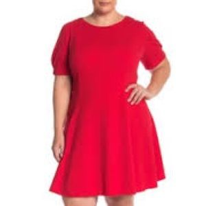 NWT Eliza J Fit and Flare Red Dress